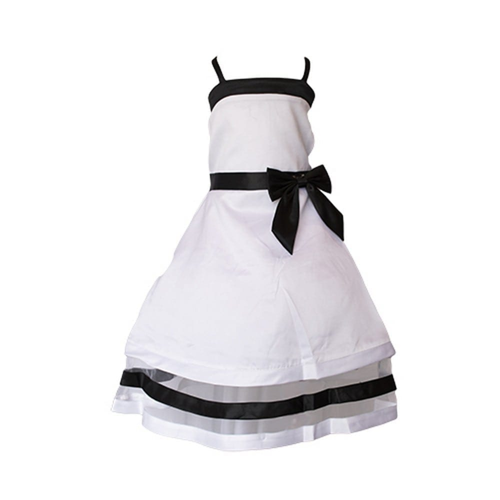 BLACK & WHITE: This might come as a surprise, but there are many brides-to-be out there looking for black or black & white flower girl dresses. 'Little Black Dress', but for tots!