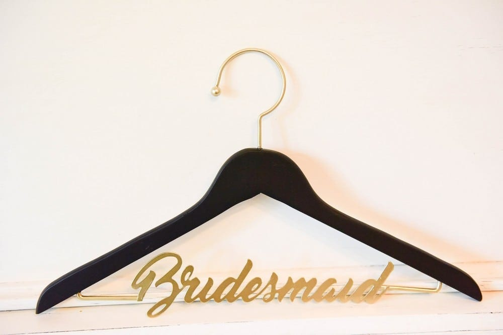 Bridesmaid Hanger: $25 + $7 to personalize