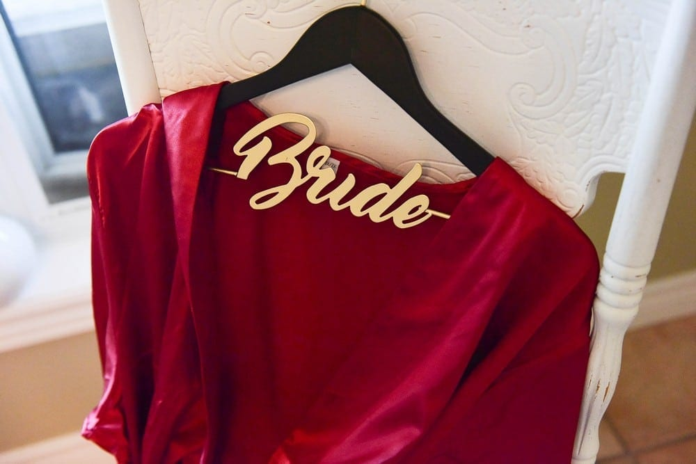 Silk Robe: $40 | Bride Hanger: $16 + $7 to personalize