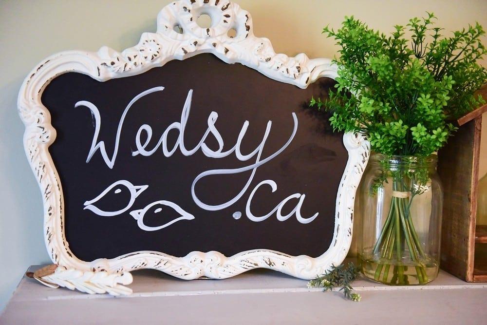 Blackboard Ornate Vintage Frame in Antique White $75