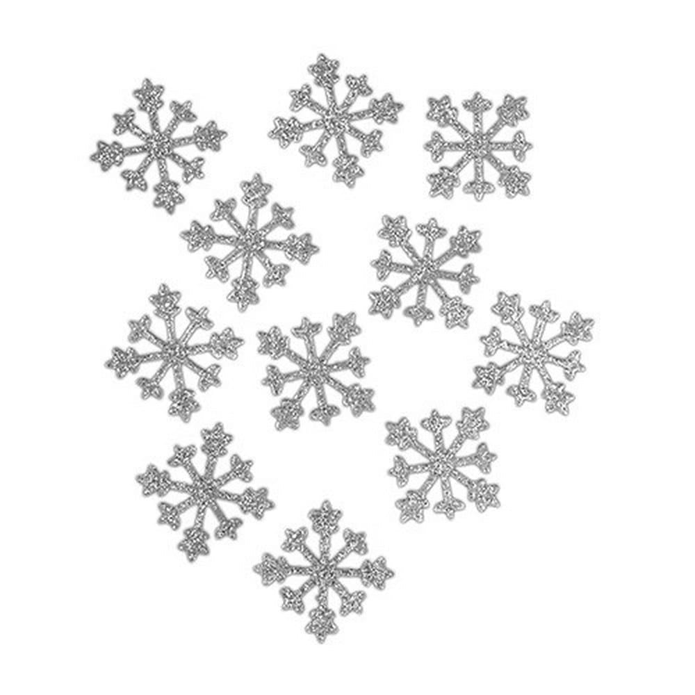Sparkle Snowflakes In Silver | $3.38 for 12