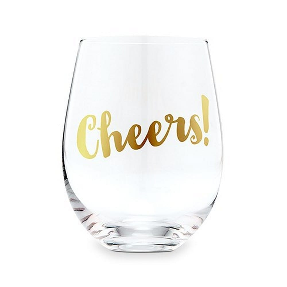 Stemless Toasting Wine Glass Gift | $8.80