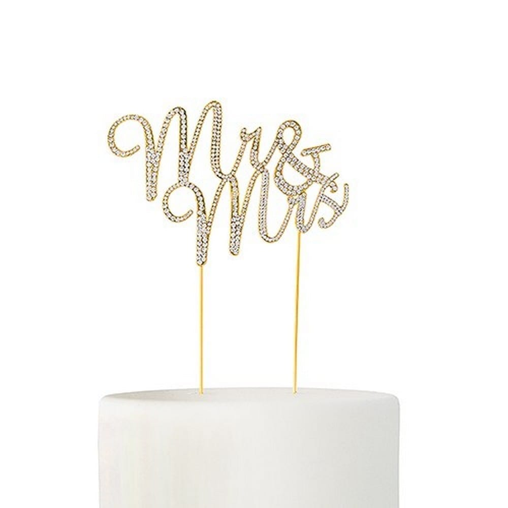 Crystal Rhinestone Mr & Mrs Cake Topper | $50