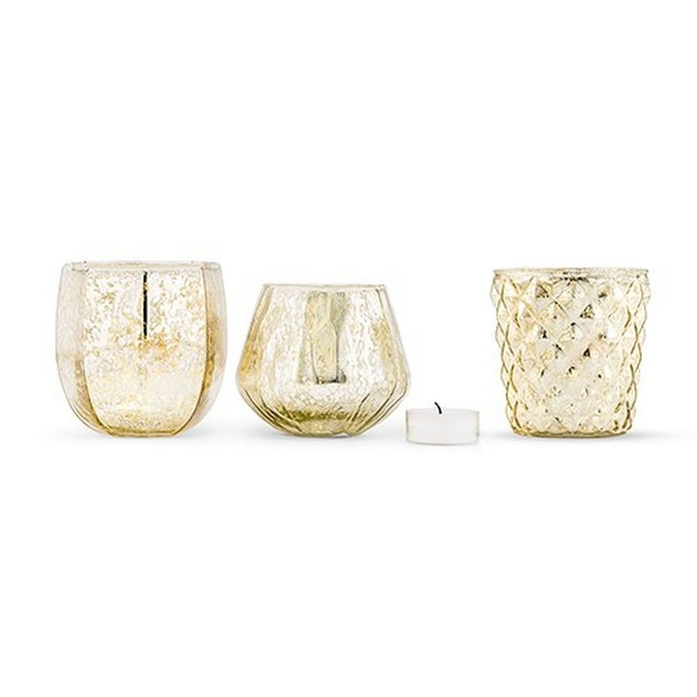 Gold Mercury Glass Votive Holder Or Bud Vase Set | $19.20 for set of 3