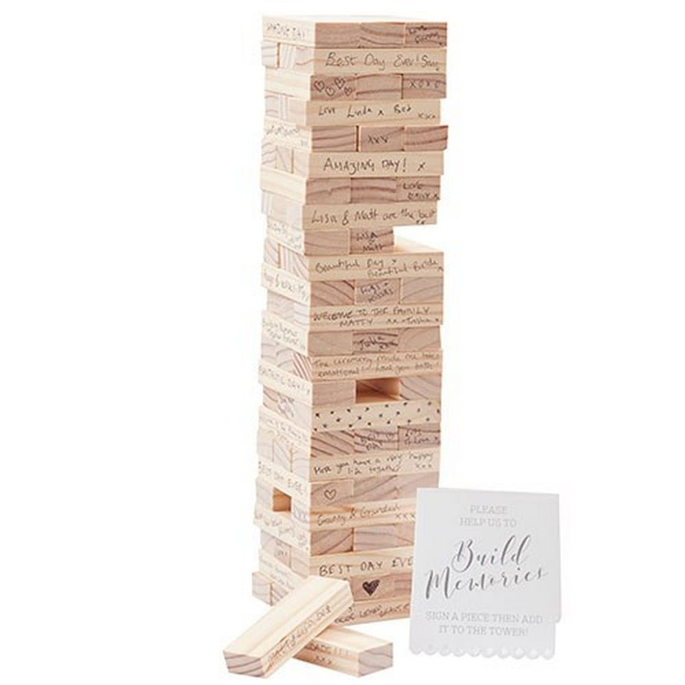 Memory Blocks Wedding Guest Book | $36