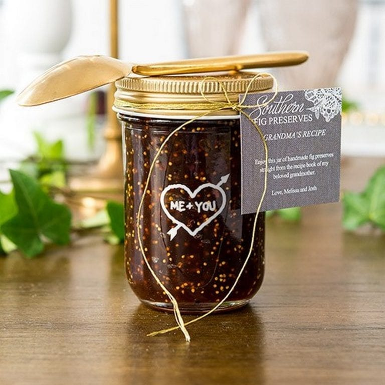 Glass Mason Jar With Gold Lid Favor | $2.85 + personalization