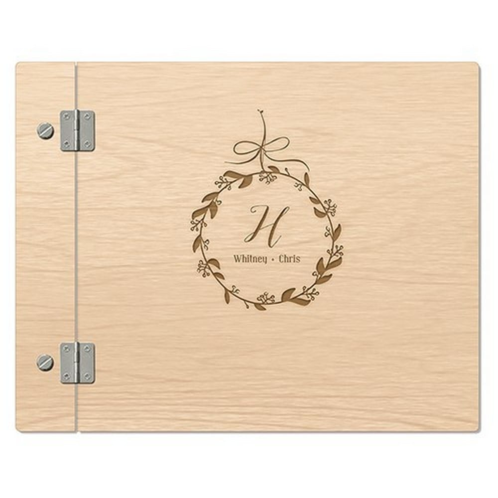 Wooden Wedding Guest Book | $85
