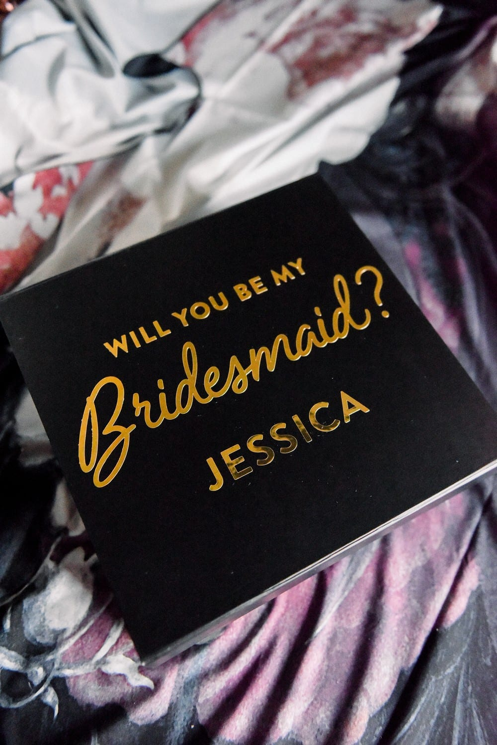 Premium Gift Box - Will You Be My Bridesmaid In Metallic Gold | $30