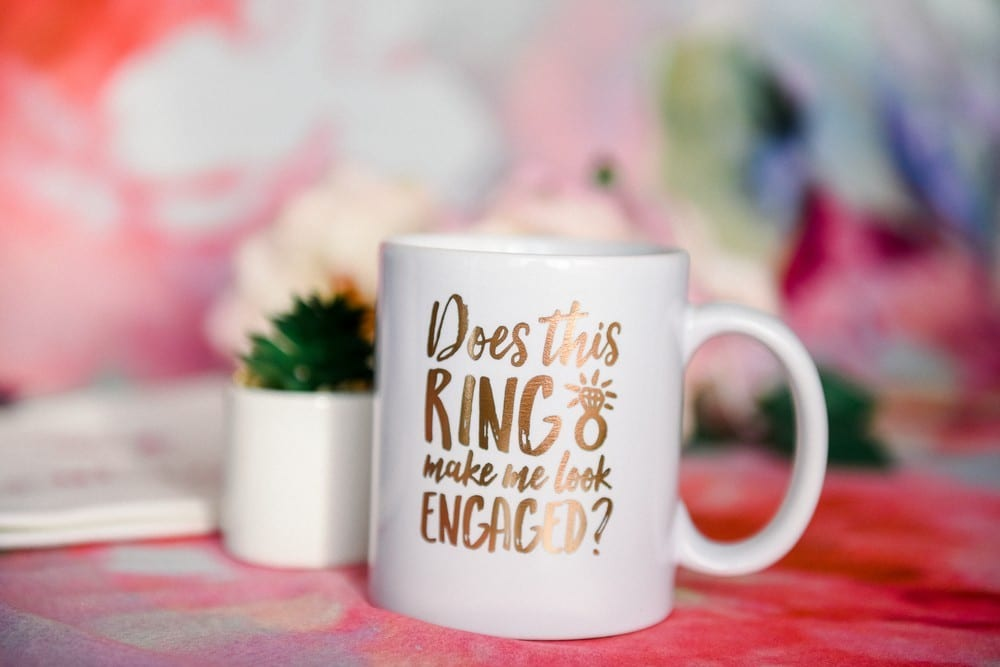 Personalized Coffee Mug - Does This Ring Make Me Look Engaged? | $19