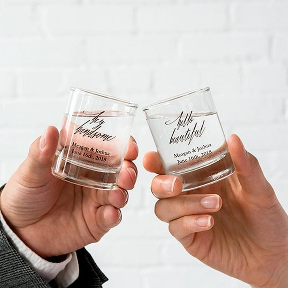 Personalized Shot Glass Wedding Favor | $2.60 each