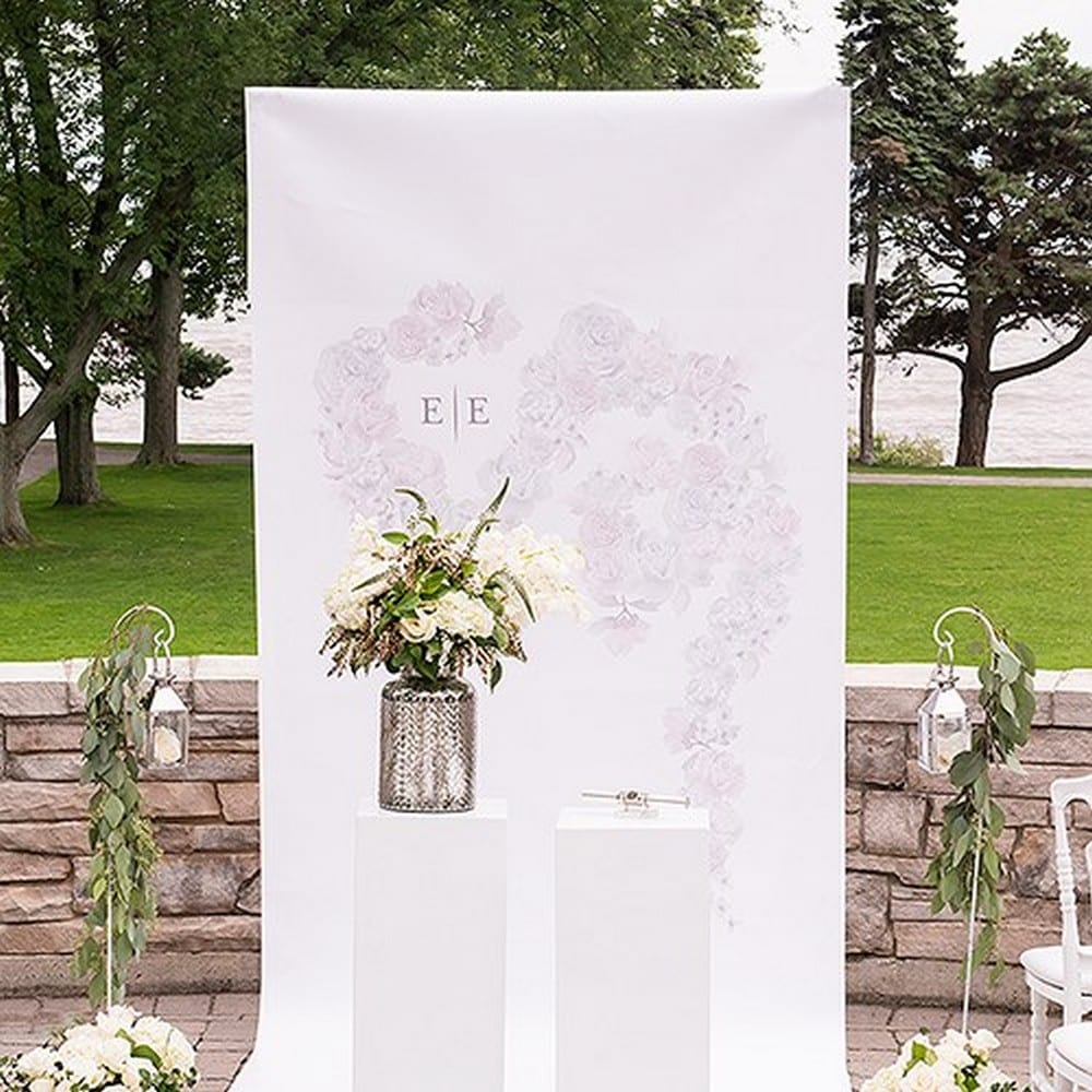 Floral Dreams Personalized Canvas Photo Backdrop | $263.98