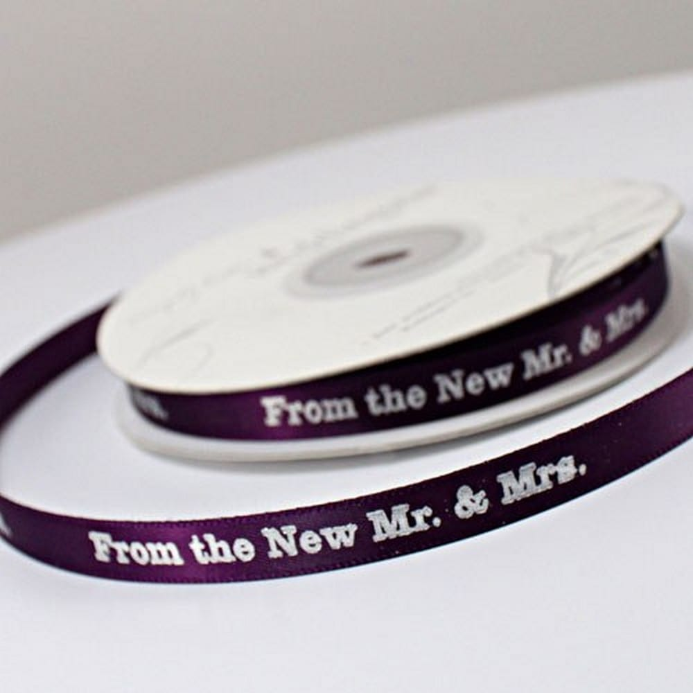 """From The New Mr. & Mrs."" Ribbon 