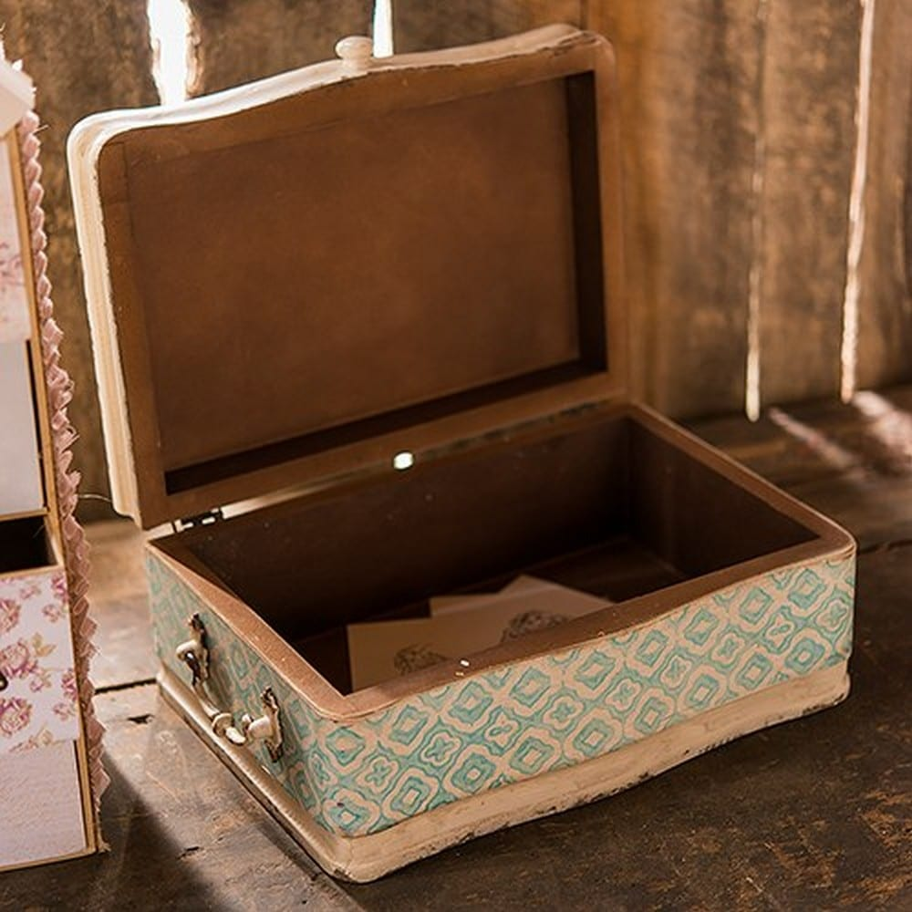 Vintage Inspired Wood Case With Hinged Lid | $85