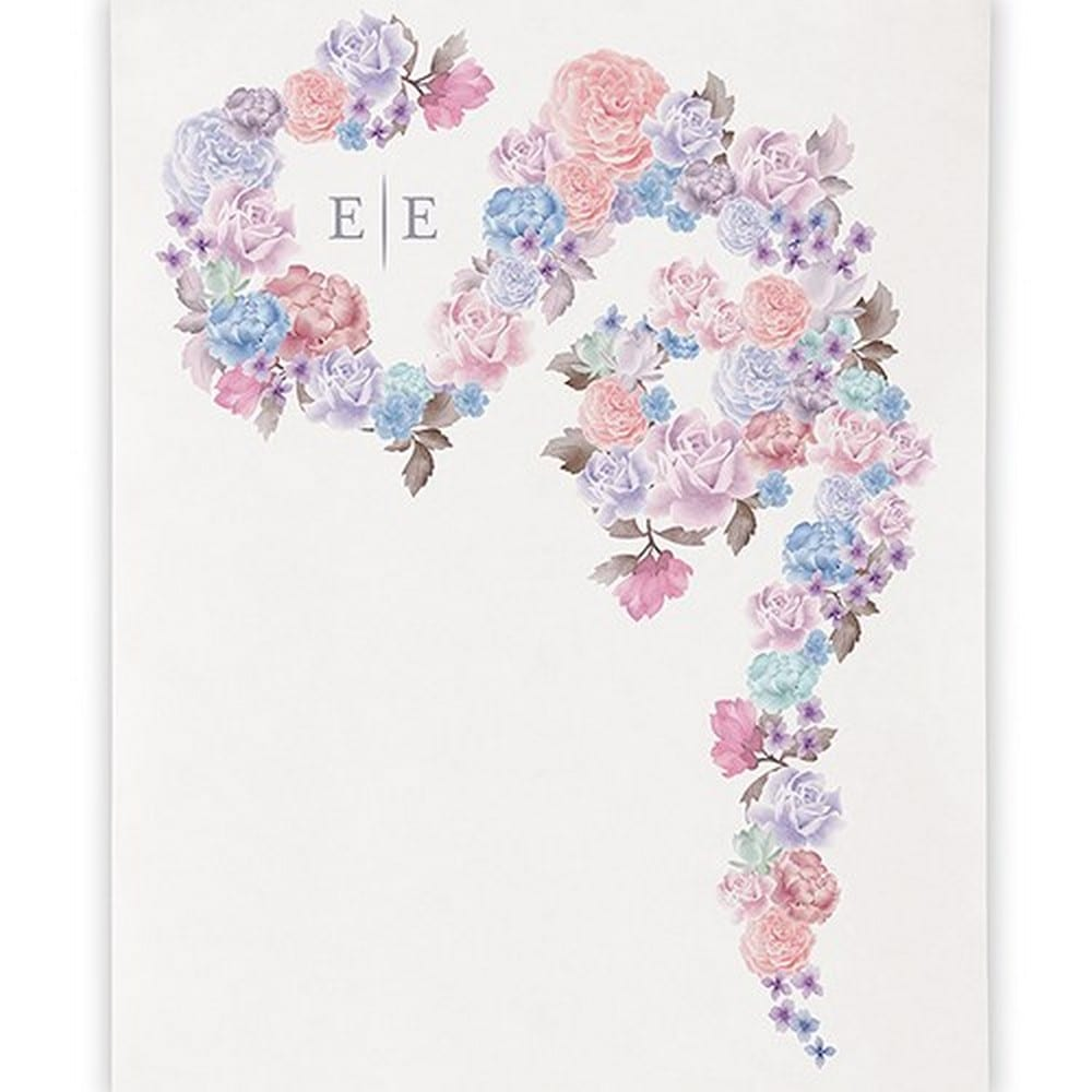 Floral Dreams Personalized Canvas Photo Backdrop | $263.98 + $6.95 personalization fee