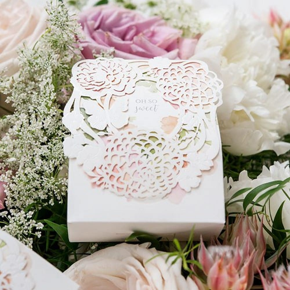 Floral Garden Favor Box | $29 for a pkg of 10