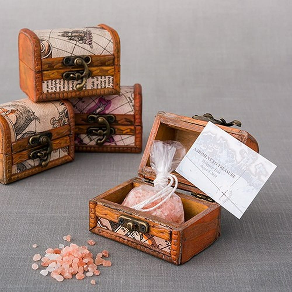 Mini Wooden Treasure Chest Favor | $27.60 for pkg of 6