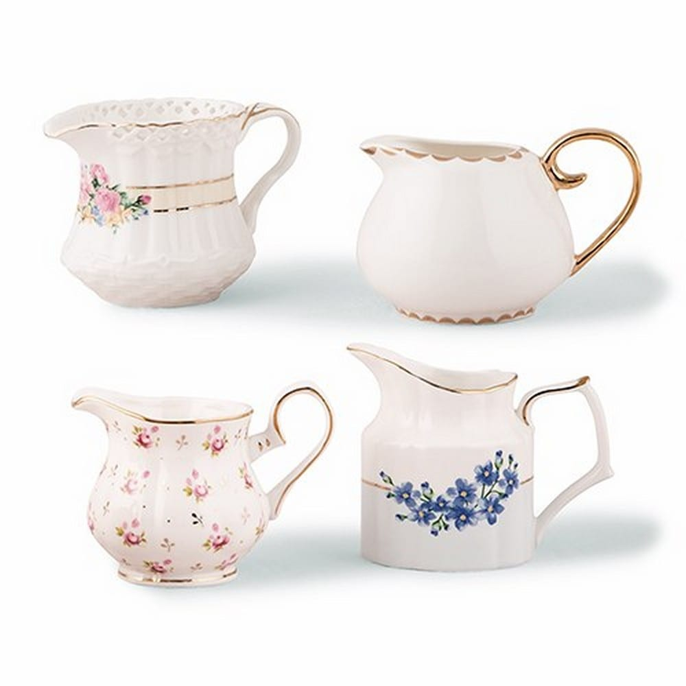 Vintage Creamer Assortment Favor Vase Set | $22.40 for a set of 4