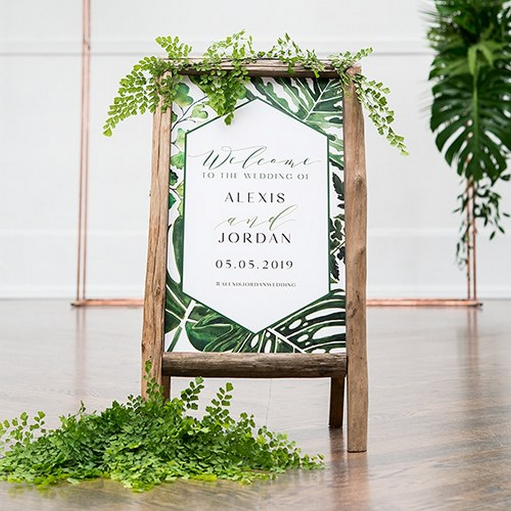 Greenery Personalized Welcome Sign For Rustic Wood Frame | $11.48