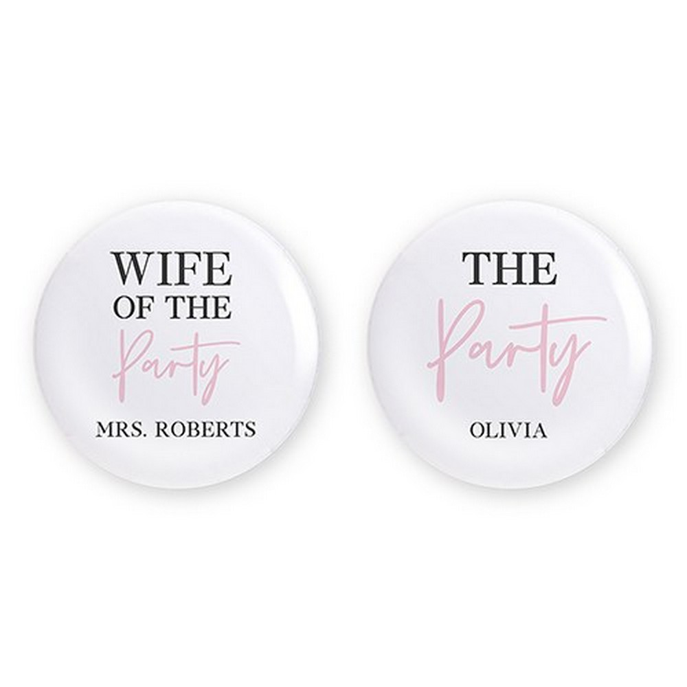 Personalized Bridal Party Wedding Pins - The Party | $5