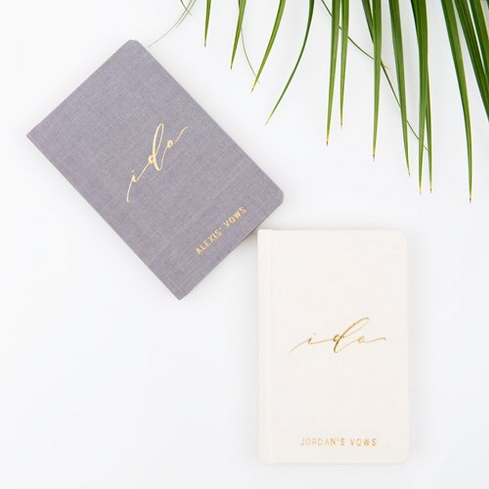 Personalized Vow Pocket Notebook – I Do | $25