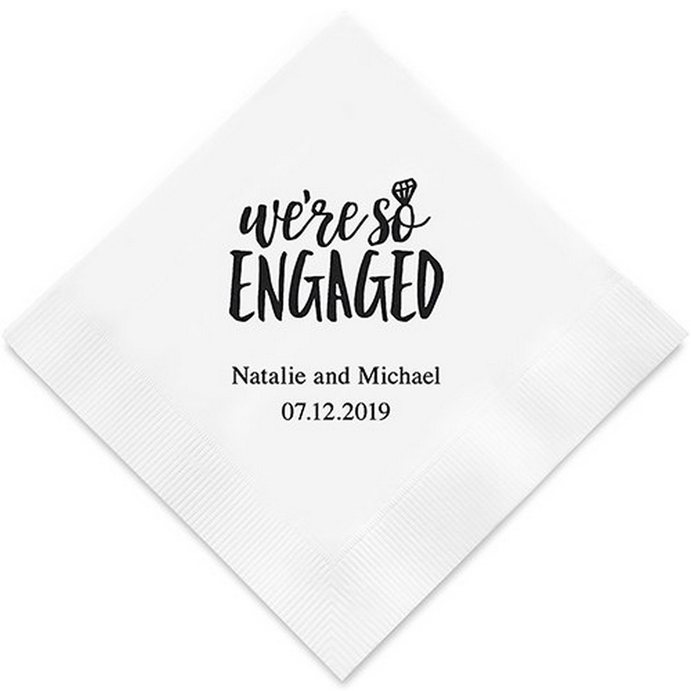 We're So Engaged Printed Paper Napkins | $32.50 for 100