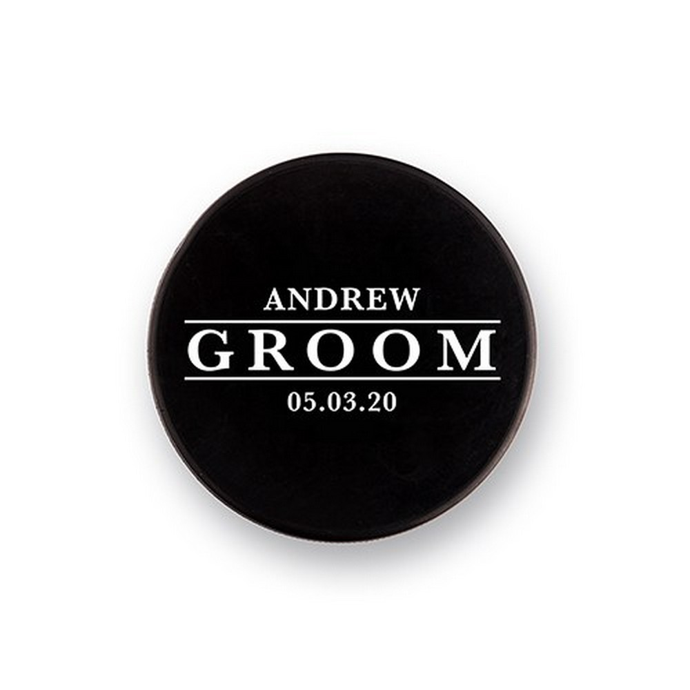 Custom Hockey Puck Bottle Opener Gift - Groom | $35