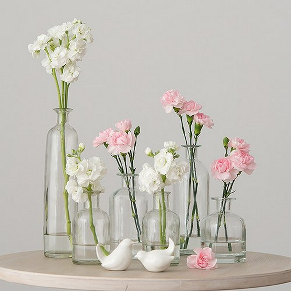 Decorating Glass Bottle Set - Clear | $48 for set of 6