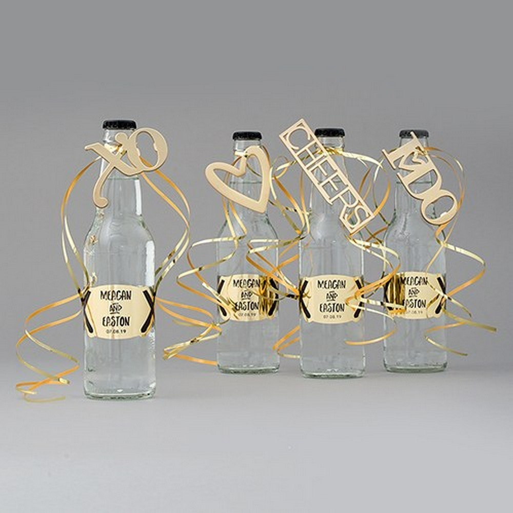 Wedsy Gold CHEERS Bottle Opener Wedding Favor | $4.50