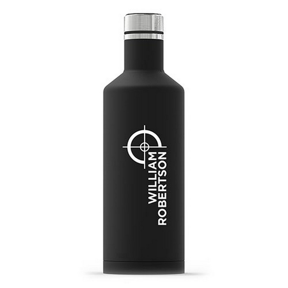 Personalized Black Stainless Steel Insulated Water Bottle – Hunting/Gaming Print | $26