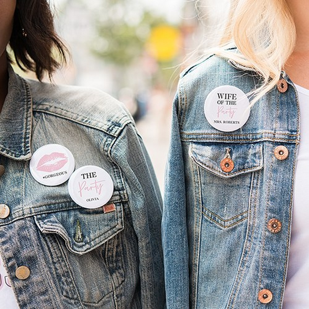 Personalized Bridal Party Wedding Pins | $6.50