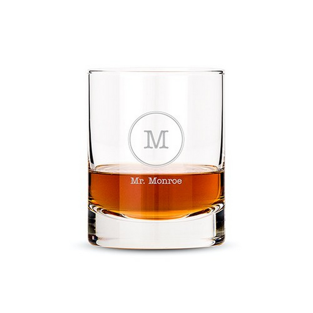 Personalized Whiskey Glasses Monogrammed | $12.50 + $6.95 personalization fee