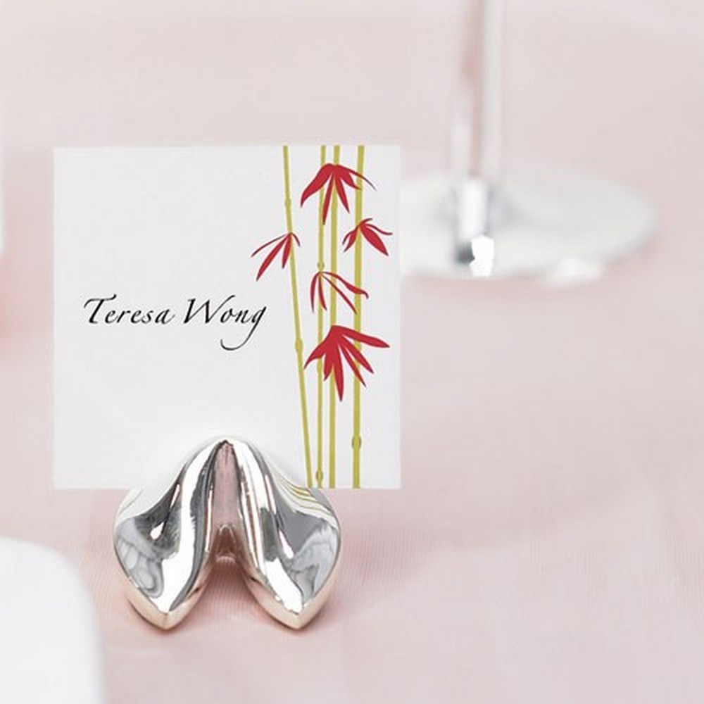 Silver Fortune Cookie Place Card Holders | $30 for 8