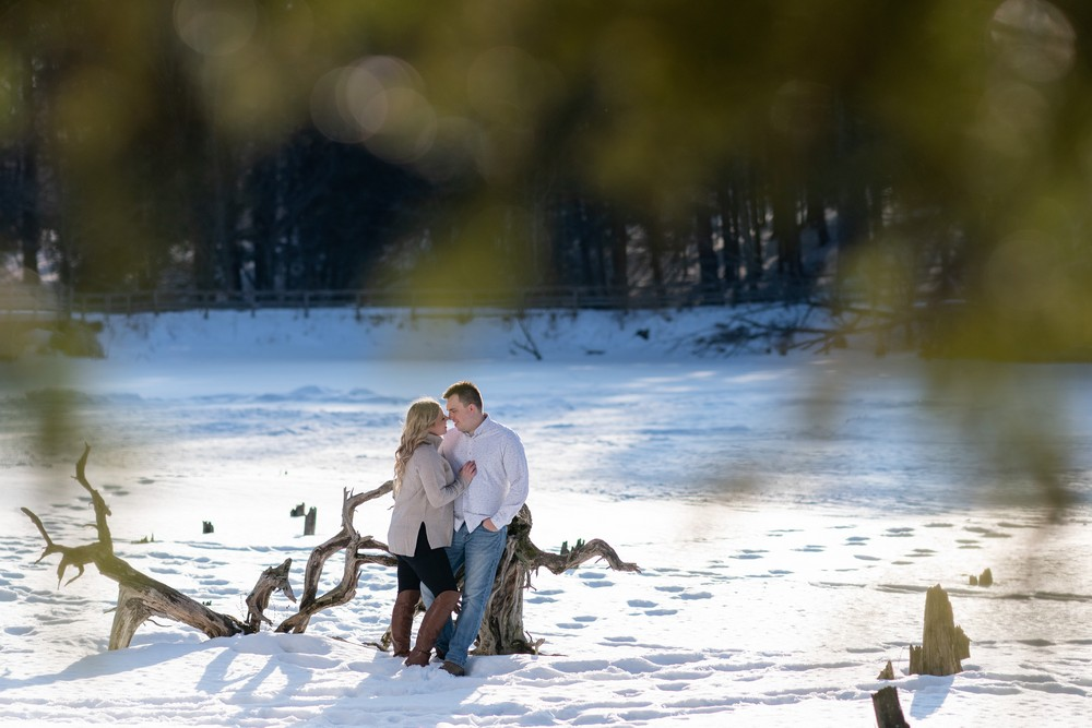 hayley and jason's love story snowy winter engagement Wedding photographer A Nash Photograph
