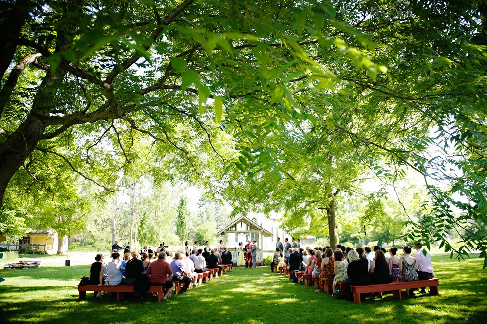 Village gazebo Ceremony