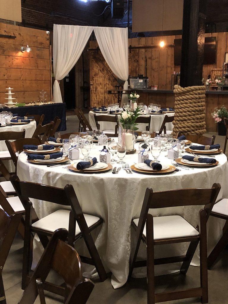 wood and brick wedding decor now & always