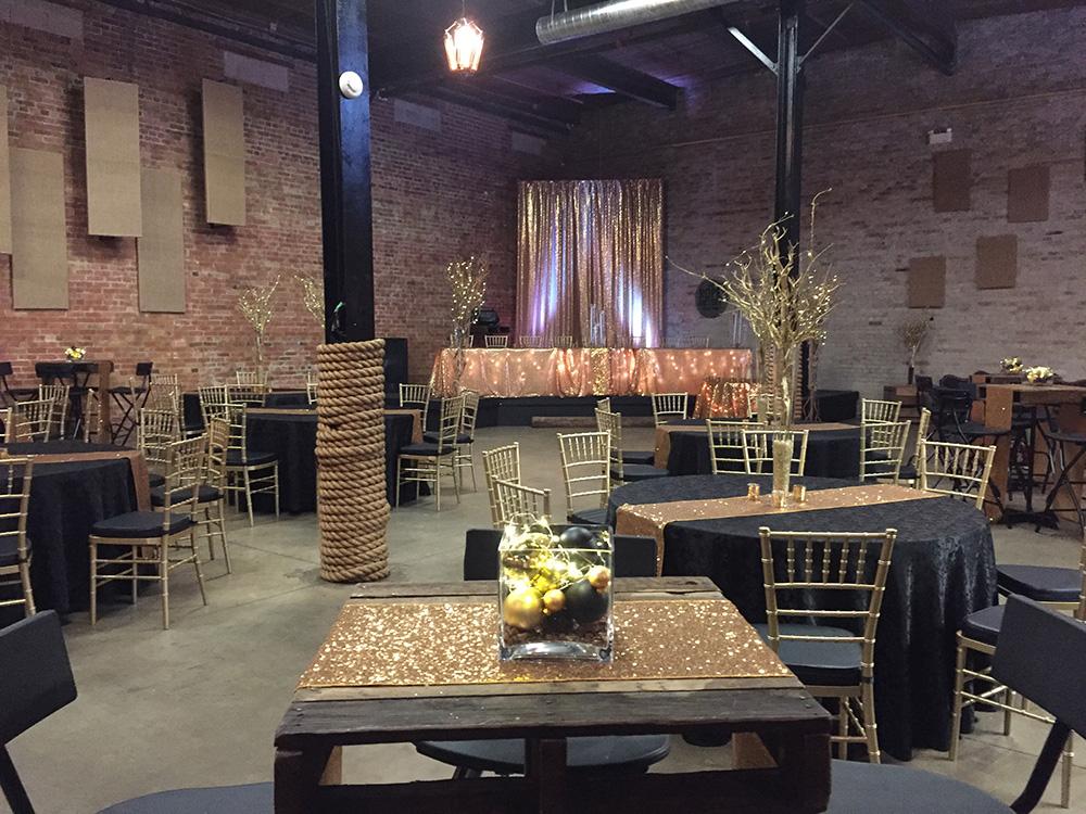 rustic brick wall wedding decor now & always