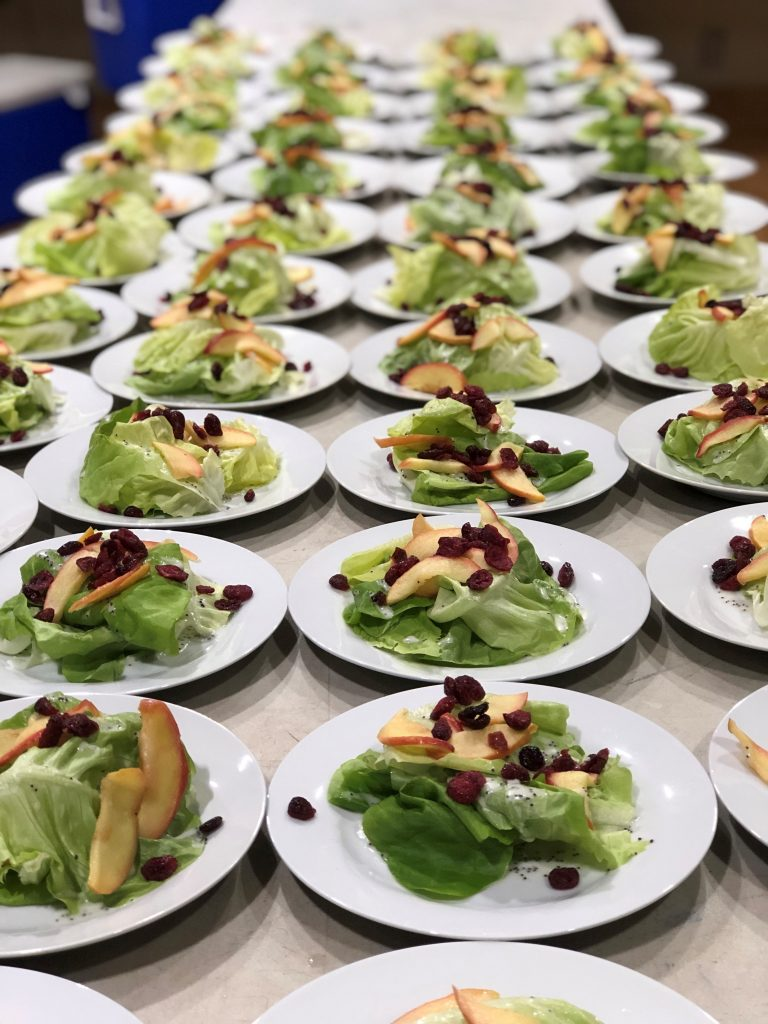 Food for thought, little mushroom catering individual salads