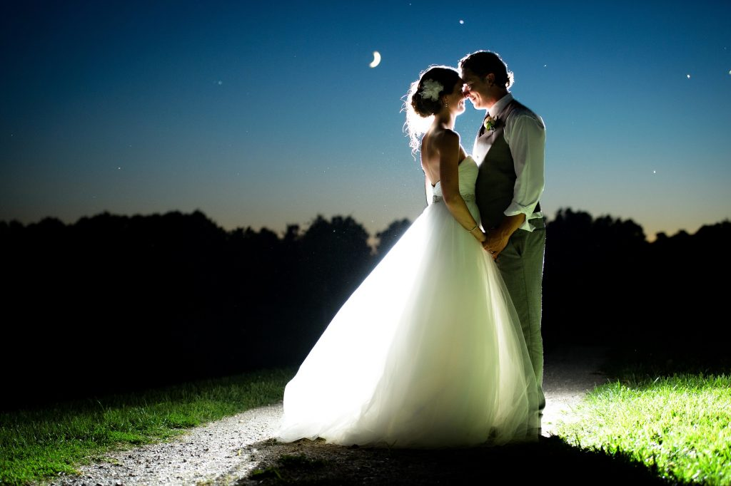 2020 Wedding options, bride and groom in the moonlight by HRM Photography