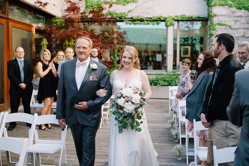 maclaren art centre bride and her father walking down the aisle