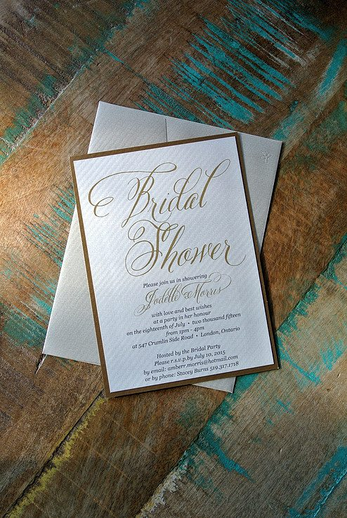 Bridal Shower Invite - RSVP Stationary, London ON