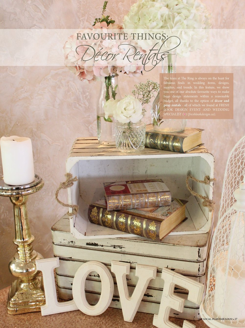 favourite things} Décor Rentals , Ontario wedding decorations