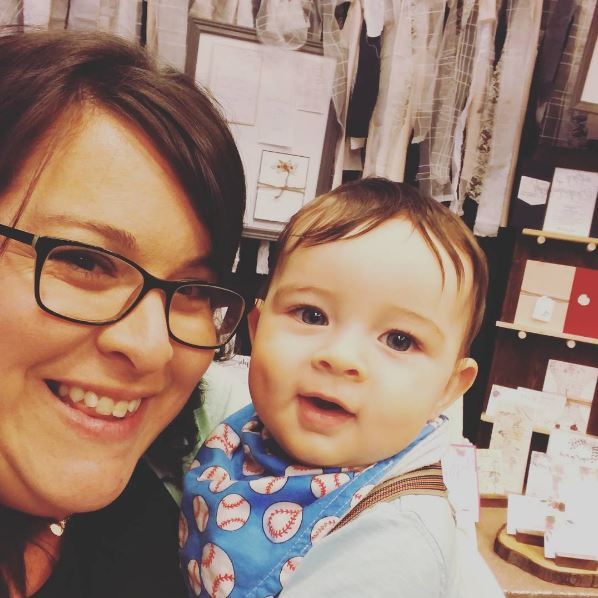 Heather at Red Bicycle & her adorable Son!!