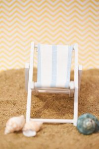 Mini Blue And White Striped Deck Chairs Beach Favor $36 for a set of 8