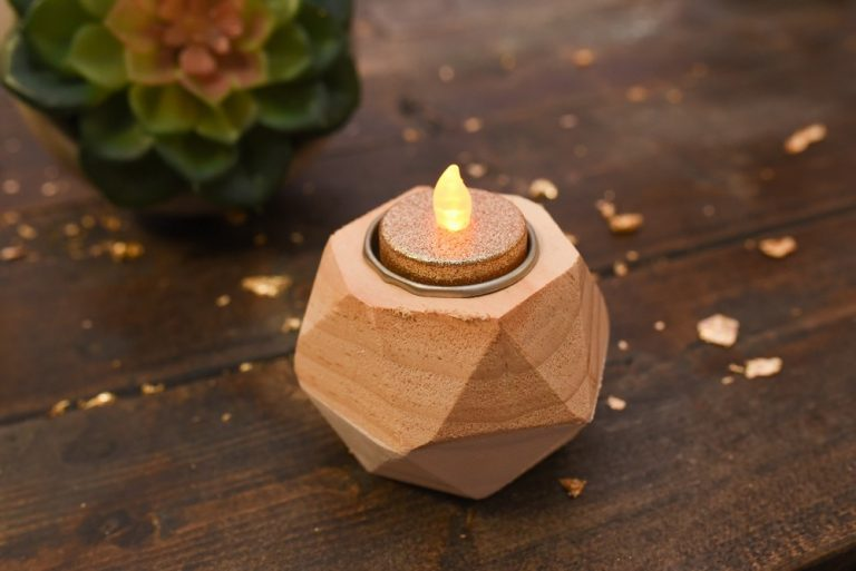Geometric Wooden Tealight Holder $30 for a set of 4