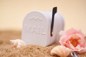 Small White Tin Mailbox Favor Container $20.40 for set of 6