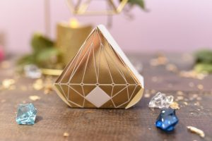 Diamond Favor Box With Metallic Gold $12 for a pkg of 10