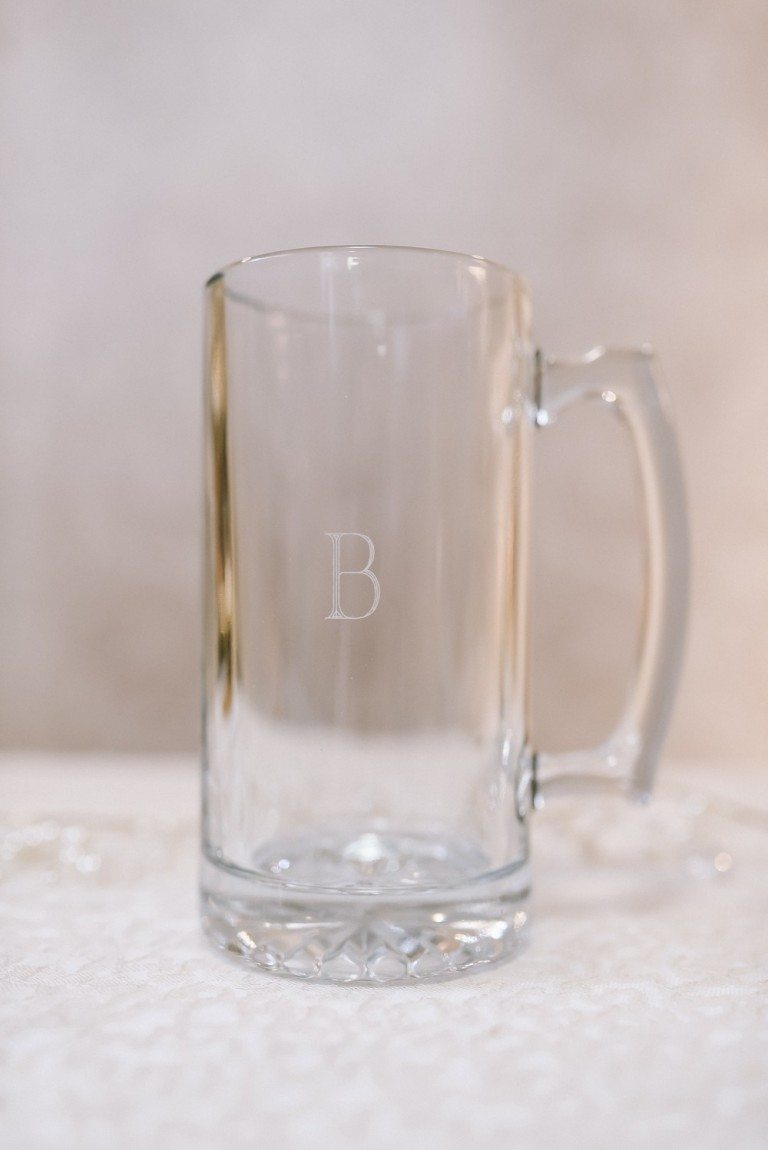 Heavy Glass Personalized Beer Mug $13.48 + $5.95 personalization fee