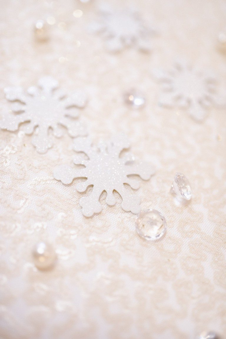 Iridescent Snowflake Wedding Decoration $6.98 for pkg of 10