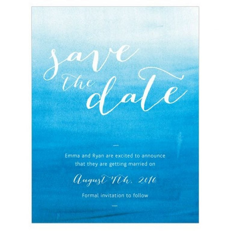 Aqueous Save The Date Card | As low as $0.88 each