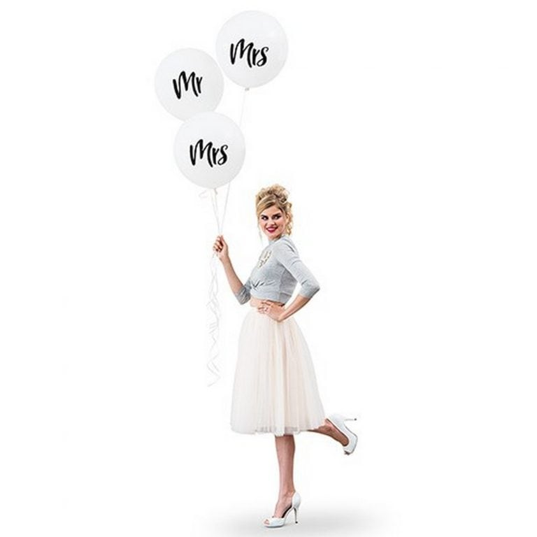 "17"" Large White Round Wedding Balloons 